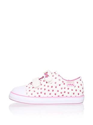 Pablosky Kid's 2-Strap Sneaker (White)
