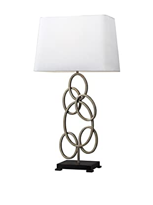 Artistic Lighting Knox Multi-Circle Table Lamp, Antique Silver