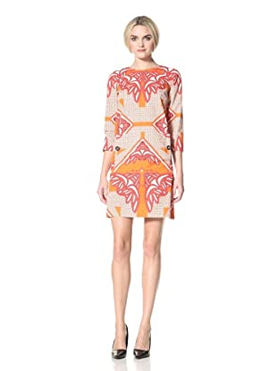 DEREK LAM Women's Kaleidoscope Print Dress (Coral)