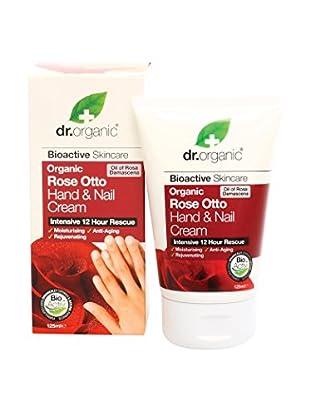 Dr Organic Trattamento Mani e Unghie Rose Otto 125 ml
