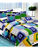 SAI ARPAN ATTRACTIVE DOUBLE BED SHEET WITH PILLOW COVERS