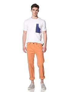 Marshall Artist Men's Carpenter Pocket T-Shirt (White/Blue)