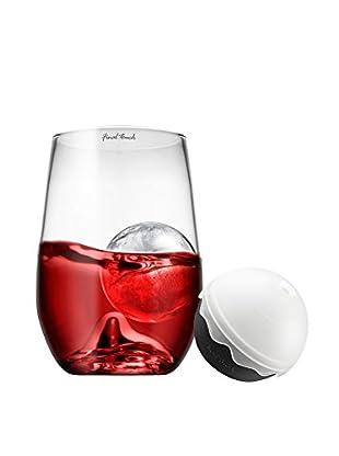 Final Touch Grand Rock Highball Glass & Ice Ball Mold