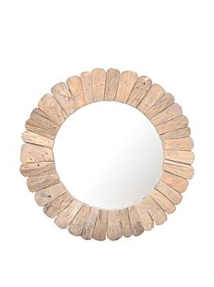 Jeffan Sedona Round Mirror, Natural
