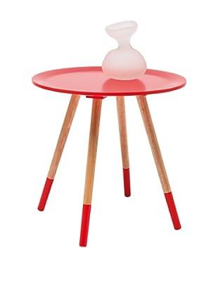Kare Design Mesa Auxiliar Blossom Rojo Ø48 Cm