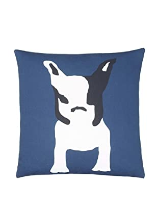 Twinkle Living Milan Throw Pillow Cover, Navy/White, 18