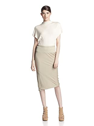 Rick Owens Women's Straight Skirt (Vanilla)