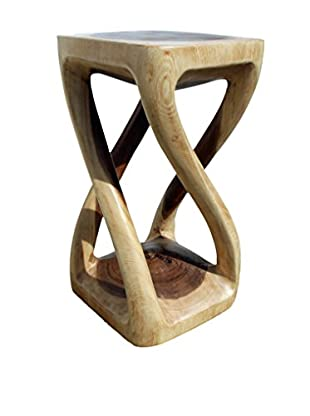 Asian Art Imports Four Leg Stool, Natural