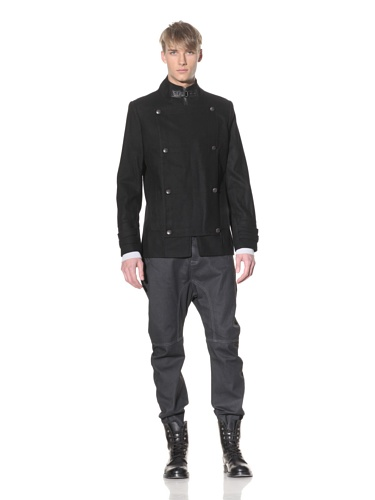 i.am Men's Button Panel Jacket (Black)