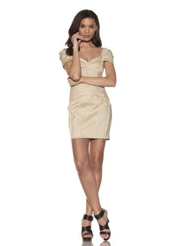 Foley + Corinna Women's Seamed Corset Dress (Tan)
