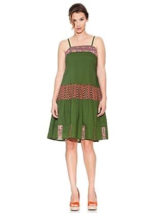 Mahal Vestido Plisado (Verde)