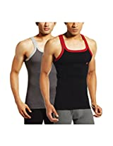 ONN NS521 Men's Assorted Color Cotton Sports Vest Pack of 2 (Small)