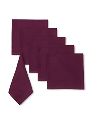 Garnier-Thiebaut Set of 6 Confetti Solid Napkins (Violette)
