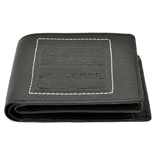 Je Porte 622 litchi Wallet for Men, Black