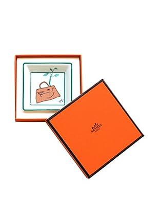 Hermès Kelly Bag with Tree Ashtray/Vide Poche, White/Green