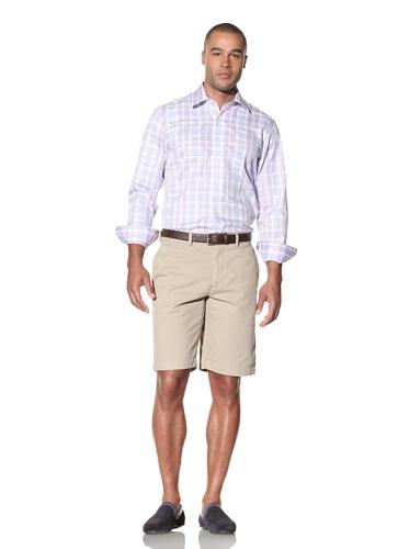Report Collection Men's Plaid Shirt (Lilac)
