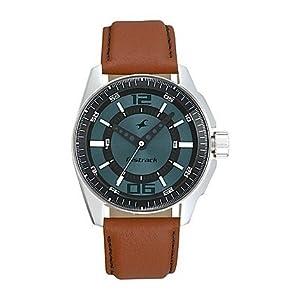 Fastrack Brown Leather Men Watch NE3089SL05