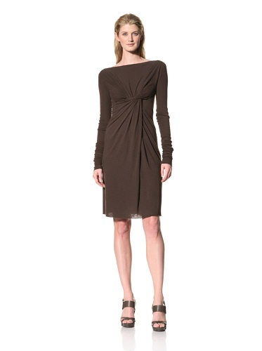 RICK OWENS Women's Cross Draped Dress (Bitter)