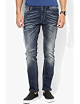 Blue Low Rise Skinny Fit Jeans (soho) Pepe Jeans