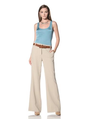 Anne Klein Collection Women's Wide Leg Pant (Beige)