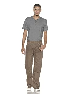 French Connection Men's Peached Paper Twill Cargo Pants (Khaki)