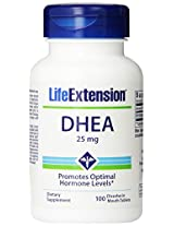 Life Extension DHEA , 25 Mg Tablets, 100-Count