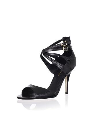 Delman Women's Esme Ankle Strap Sandal (Black)