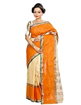 B3Fashion Bengal Traditional Baluchari Golden super soft cotton saree with bicolour geometric pattern weave all over the saree
