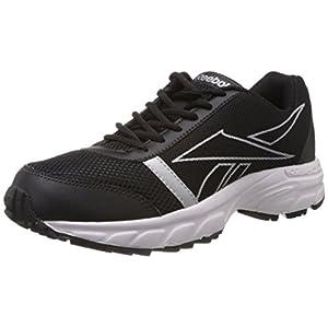 Reebok Men's Sonic Run Black and Silver Mesh Running Shoes -  8 UK
