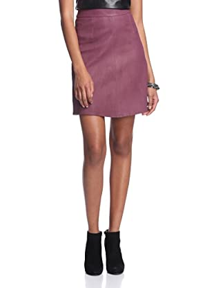 AS by DF Women's Carly A-Line Leather Skirt (Bordeaux Wine)
