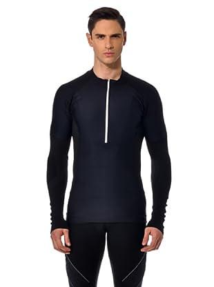 Santini Shirt Zip (Schwarz)