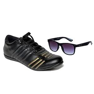 Ferrari Style Sports Shoes & PCBC Sunglasses Combo-COS160