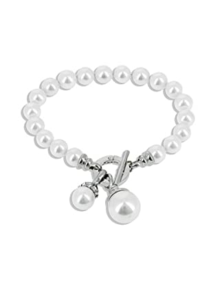 Fashion Victime Bracciale Ball chiusura Marinara bianco perla