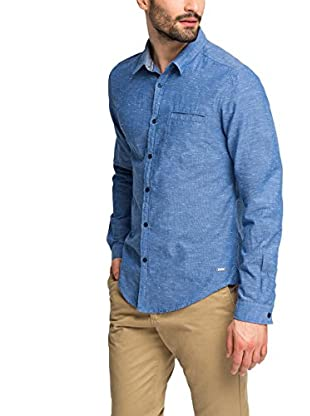 edc by ESPRIT Camisa Hombre  Azul Small
