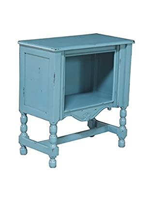 Jeffan Campbell Side Table, Tosca Blue Distress