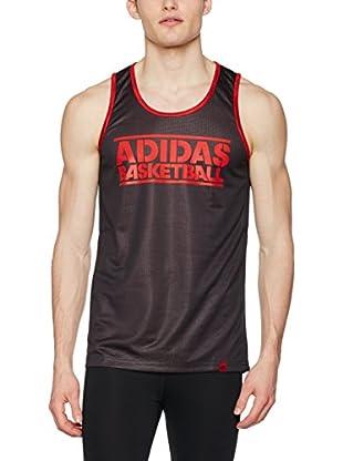 adidas Camiseta Tirantes Gfx Rev Jersey/Rouge/Noir