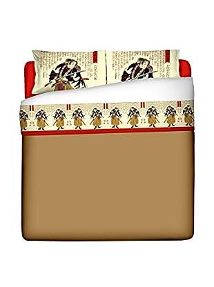 JAPAN MANIA by MANIFATTURE COTONIERE Betttuch und Kissenbezug Ronin