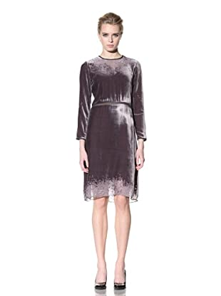 Cynthia Rowley Women's Long Sleeve Disintegrated Velvet Dress