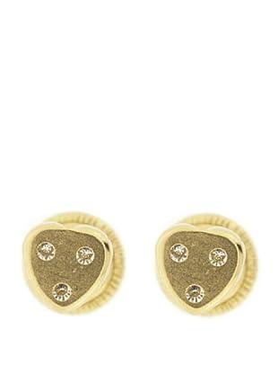 Gold & Diamond Pendientes Corazón Circonitas
