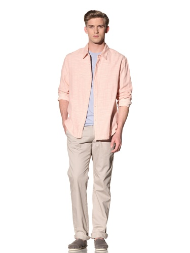 Riviera Club Men's Jaws Slub Shirt (Pink)