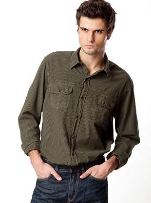 Timberland Camisa Rayas (Verde Caza)