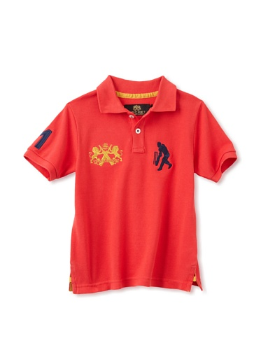 Sher Singh Boy's Classic Polo (Red)
