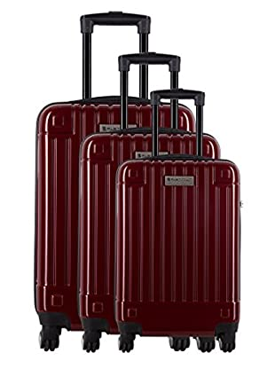 Creation Olivier Lapidus Pour Platinium Set 3 Trolley 4 Ruedas Design (Rojo)