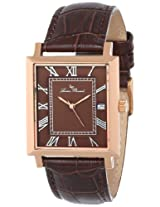 Lucien Piccard Men's LP-10501-RG-04 Bianco Brown Dial Brown Leather Watch
