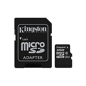 Kingston 32GB microSDHC Class 10 UHS-I memory card (Upto 80 Mb/s speed)