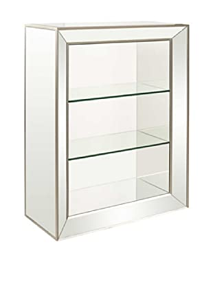 Bassett Mirror Minetta 3-Shelf Bookcase, Mirrored