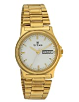 Titan Karishma Analog White Dial Men's Watch - NE390YM06