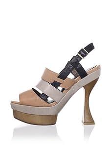 MARNI Women's Strappy Slingback Sandal (sugar)