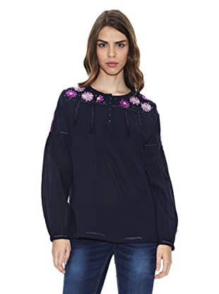 Peace & Love Camisa Pai (Azul Marino)