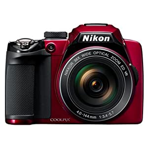 Nikon Coolpix P500 Digital Camera with 36x Optical Zoom (Red)